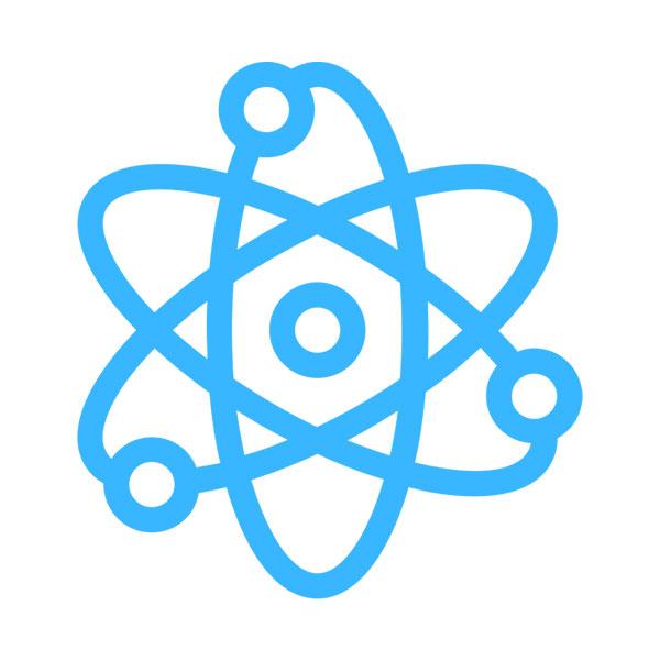 Simbolo de atomo representando ciencia